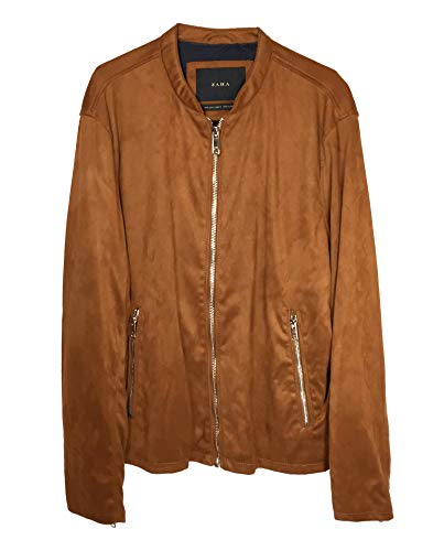 Zara Men Faux Suede Bomber Jacket 8281/365 (Large) for sale  Delivered anywhere in USA