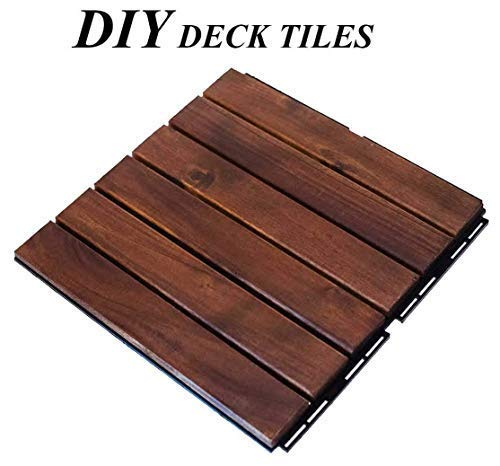 - Lofty Homes Interlocking DIY Floor Decking Tiles, 12