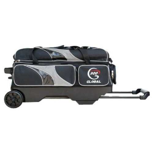 900 Global 3-Ball Deluxe Roller Bowling Bag, Black/Gray by 900 Global