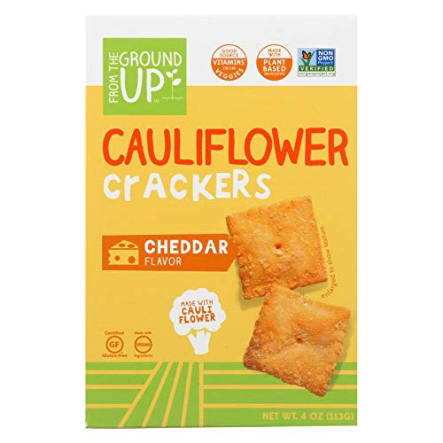 From The Ground Up Crackers - Cauliflower Cheddar - Case Of 6-4 Oz.