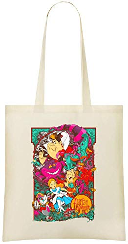 au Grocery des Tote Friendly Printed Alice Use Eco Soft For Shoulder wonderland amp; pays Bag Everyday 100 merveilles Cotton Stylish Alice Bags Custom in Custom Handbag dzqavwdE