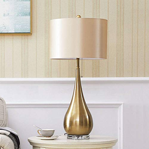 Lámpara de mesa JFHGNJ Lámpara de mesa moderna de metal con forma ...