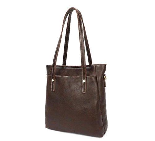 Modo Spalla Dell'uomo Shopping sacchetti Coffee borsa Sacchetto Affari Cuoio Di Viaggio Hubaotai Lavoro retro Color Messaggero Verticale wqBHtPI