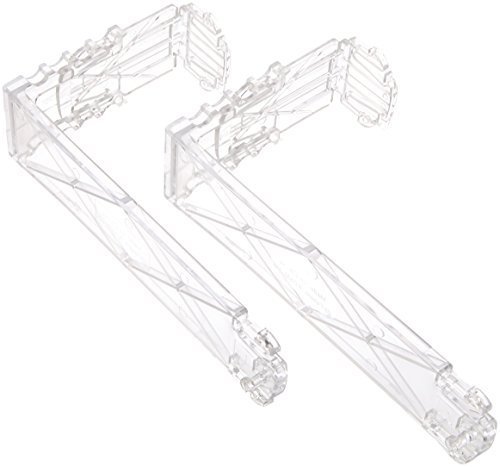 (Deflecto EZ-Link Plastic Partition Brackets, Cubicle Wall Brackets, Break-Resistant, Clear, Set of 2, 1.75