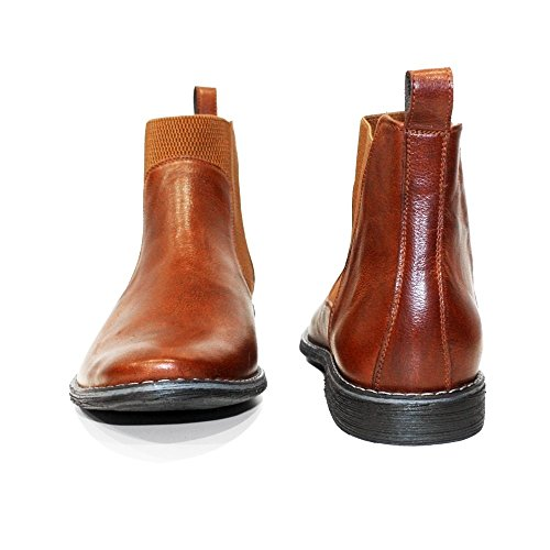 Handmade Smooth Leather Chelsea Italian Ankle Cowhide On Brown Modello Slip PeppeShoes Kone Boots Mens Leather Rxwq4UEBT
