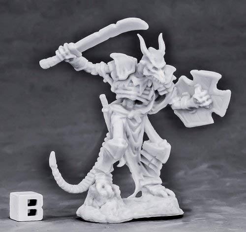 Undying Lizard Warrior Miniature 25mm Heroic Scale Dark Heaven Bones Reaper Miniatures