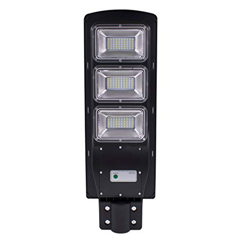 60W/90W Solar Street Light IP65 Waterproof - Outdoor Security Light with Radar Sensing Intelligent Recognition for - 80/120 Squaremeter Street Floodlight Yard Light for Area Lighting (Black, 90W) ()