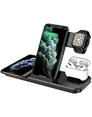 $29 » Wireless Charger 4 in 1, Qi-Certified 15W Fast Charger Station Compatible iPhone 12 Pro/12 Pro Max/11 Pro/11 Pro Max/X/XS/XR, Apple Watch AirPods Pro, Wireless Charging Stand for Samsung Galaxy Series