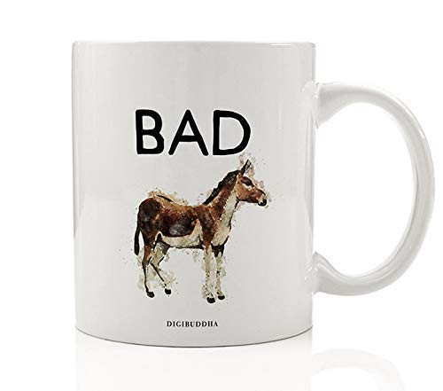 Sarcastic Mug Funny Coffee Mugs for Women Bad Ass Donkey I Am Smart Badass Boss Lady Travel Gifts Best Coworker Ceramic Tea Cups for Mom Men or Sister Birthday Bitch Shes The Man Cup 11oz Digibuddha