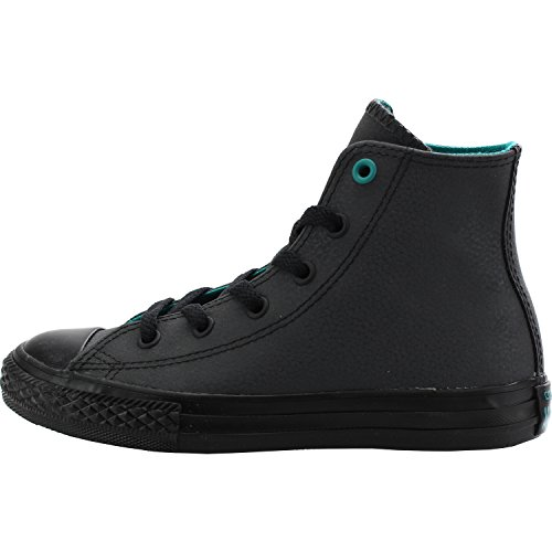 Converse Chuck Taylor All Star Hi Almost Black Leather Youth Trainers Almost Black