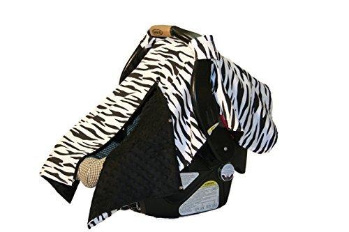 BayB Brand Car Seat Cover - Zebra and Black