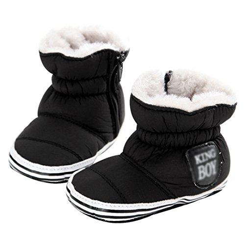Monique 0-1 Years Old Newborn Baby Winter Warm Boots Premium Soft Sole Boots Infant Toddler Snow Boots Crib Shoes 13CM/5.1IN