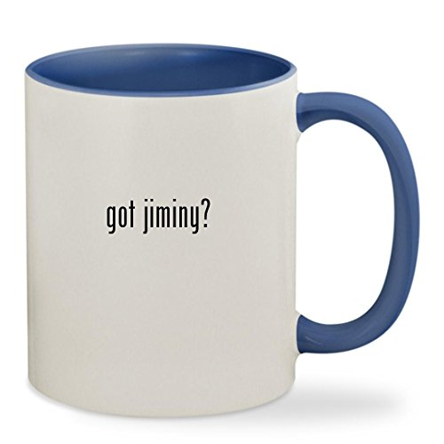 got jiminy? - 11oz Colored Inside & Handle Sturdy Ceramic Coffee Cup Mug, Cambridge Blue