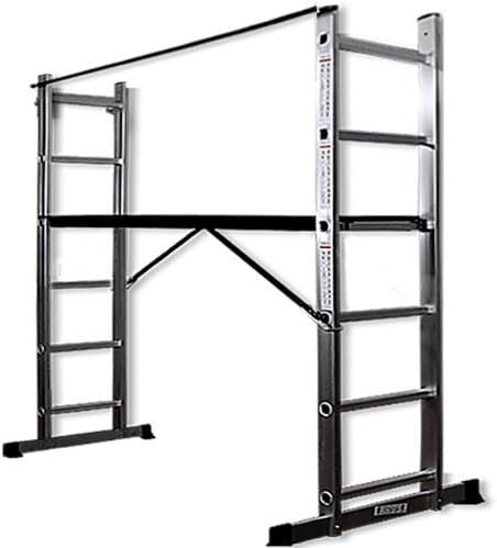 Deuba - Escalera con andamio multifunción (aluminio, 130 x 41 cm, carga máxima 150 kg): Amazon.es: Hogar