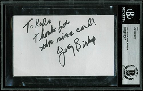 Joey Bishop Ocean's 11 Authentic Signed 3×5 Cut Signature Autographed BAS Slab