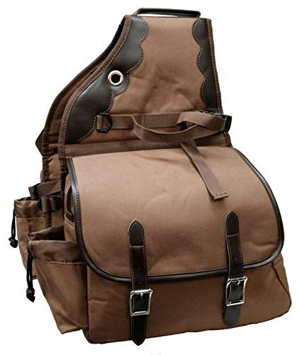 Showman 600 Denier Deluxe Insulated Nylon Saddle Bag (Brown)
