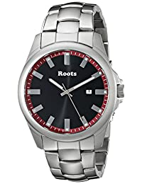 Roots Men's 1R-LF410RE0 Canoe Analog Display Japanese Quartz Silver Watch