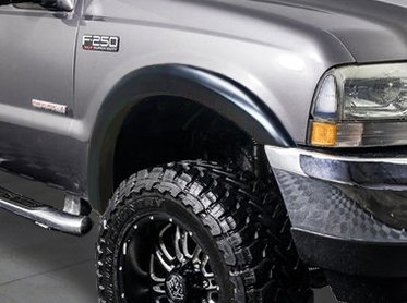 RDJ Trucks HWY-PRO OE Style Fender Flares - Fits F250/F350 SuperDuty 1999-2007 (Smooth Paintable Black) ()