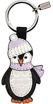 Coach Leather Signature Penguin Keychain Amazon Com
