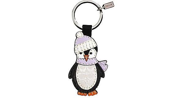 Amazon Com Coach Leather Signature Penguin Keychain Fob