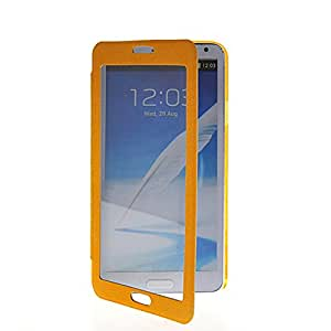 LIKESEA High Quality Fashion Business Style Ultra Thin Flip Leather Smart Case Cover For Samsung Galaxy Note 3 N9000 Yellow
