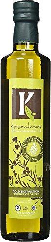 Price comparison product image Organic Kasandrinos Ultra Premium Extra Virgin Greek Olive Oil (500 ML Bottle) - Current 2017 / 18 Winter Harvest