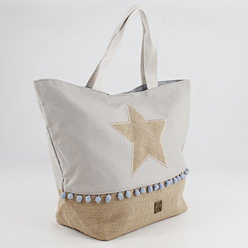 cm Lona Beach Bolso Playero Tela Star Azul de For 57 Mujer y Playa x x de 40 Time para 19 1wxUYqR