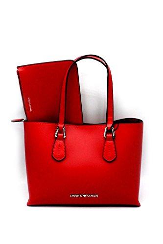 EMPORIO ARMANI SMOOTH SHOPPING BAG Y3D084YH19E Rosso