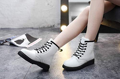 4cm Botas Cortas Terciopelo Martin Medio White Kokqsx De 37 Tubo en 36 Corta Zapatos Impermeable Tacon Invierno Algodón tAxqIvB