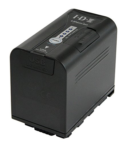 High capacity battery for Panasonic AG-DVX200 camera. 4 LED power status indicator, USB & X-Tap power outputs by IDX