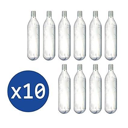 10 BOMBONAS 16G de C02 para el KIT REPARACIÓN PINCHAZOS A GAS de LICOTA y RZ