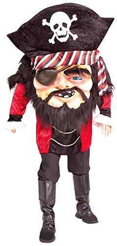 Forum Novelties Men's Parade Pleasers Mega Matie Big Head Pirate Costume, Multi, Standard