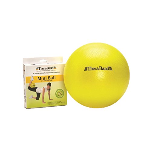 TheraBand Mini Ball, Small Exercise Ball for Yoga, Pilates, Abdominal Workouts, Shoulder Therapy, Core Strengthening, At-Home Gym & Physical Therapy Tool ()