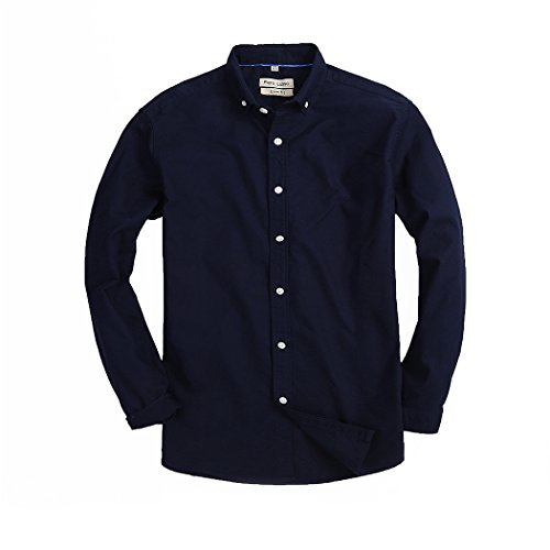 High Creation Mens Slim Fit Shirt Solid Color Oxford Casual Button Down Dress Shirt