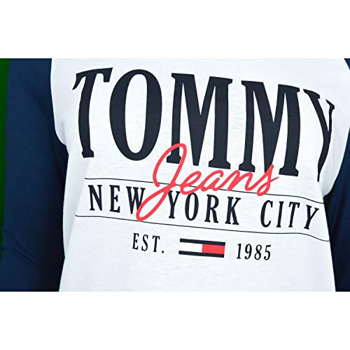 shirt Raglan Jeans Blanc Logo Tommy T FwSCqA8w