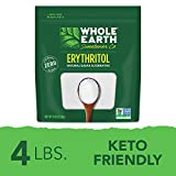 Whole Earth Sweetener Company 100% Erythritol, 4 Pound Pouch, Natural Sugar Alternative, Baking...