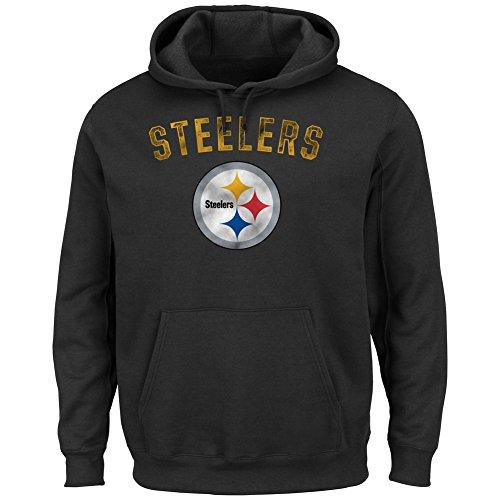Pittsburgh Steelers Vintage Hooded Sweatshirt - XXL - Black