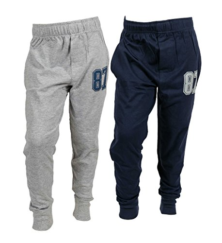 chopper club Pack of 2 Track Pant for Boys 12-13 Years Smart Set of 2 Joggers Navy+Grey US16