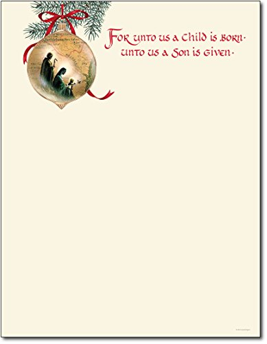 Holy Family Christmas Paper - 80 (Christmas Stationery)
