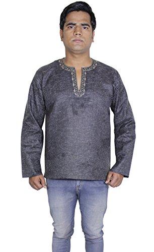 mens-cotton-shirt-long-kurta-indian-clothing-fashion-yoga-dress-xxl