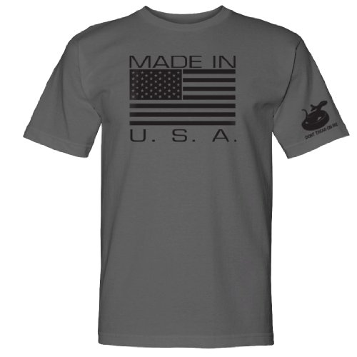 Made in USA Graphite T-Shirt Large by Gadsden and Culpeper
