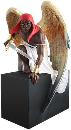 African American Expressions – Ready for Battle Angel Figurine by Thomas Blackshear 7 x 7 x 11.25 FBCF-01