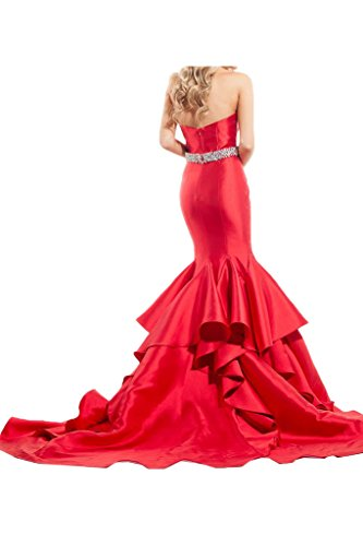 Lamia Braut Damen Rot Meerjungfrau Abendkleider Partykleider ...