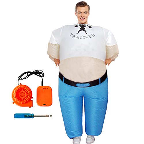 [Adult Inflatable Costume Funny Popeye Fatty Fitness Coach Cosplay Chubsuit] (Olive And Popeye Halloween Costume)