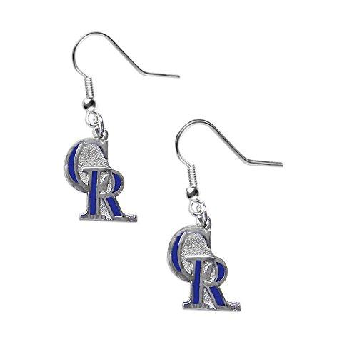 aminco Colorado Rockies Dangle Logo Earring Set Mlb Charm Gift (Charm Rockies Colorado)