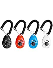 EcoCity 4-Pack Dog Training Clicker with Wrist Strap