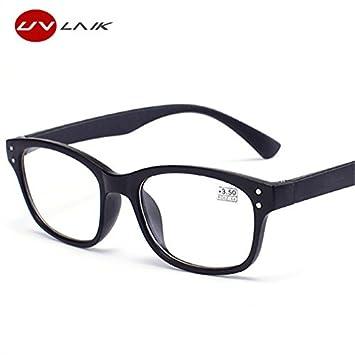 98bd010cffd9 BuyWorld UVLAIK Reading Glasses Women Men Ultrght Resin Lenses Elderly TR90 Presbyopic  Eyeglasses Diopter 1.0 1.5 2.0 2.5 3.0 3.5 4.0  Amazon.in  Home   ...