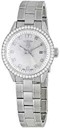 "TAG Heuer Women's WV1413.BA0793 ""Carrera"" Stainless Steel and Diamond Watch"