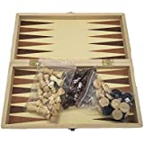 +Urbano 3-in-1 Wooden Chess Set & Checkers & Backgammon Set with Folding Carrying Case Folding and Travel Chess Board…