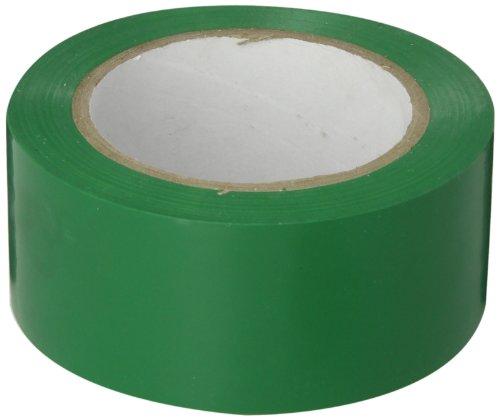 Brady 58202 36 yd Length x 2 Width, Vinyl, Green Aisle Marking Tape